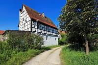 D-Worms, Rhine, Upper Rhine, Rhenish Hesse, Rhine-Neckar area, Rhine-Main district, Rhineland-Palatinate, D-Worms-Ibersheim, Ibersheim village, farm a...