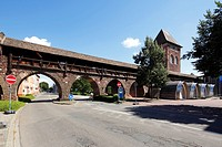 Germany, Worms, Rhine, Upper Rhine, Rhenish Hesse, Rhine-Neckar area, Rhine-Main district, Rhineland-Palatinate, Nibelungen Museum Worms, town wall, w...