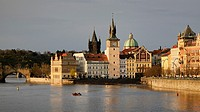 Czech Republic, Prague, historic centre listed as World Heritage by UNESCO, the Old Town (Stare Mesto), the Vltava River and the Charles Bridge (Karlu...