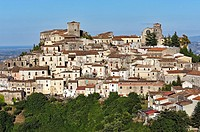View of the village of Altomonte, District of Cosenza, Calabria, Italy, Europe.