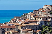 View of the village of Scalea; District of Cosenza; Calabria, Italy; Europe.