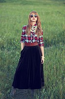 fashion image of young woman.