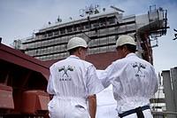 Shipbuilding, Ha Long Ship Yard, North Vietnam, Asia.
