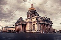 St Isaac cathedral in Saint Petersburg (Russia).