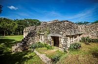 Mayan structure in Ek Balam, Yucatan.
