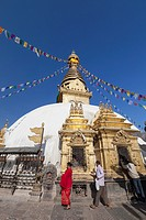 Swayambhunath temple, Kathmandu, Nepal.