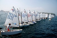 Sailing Optimist Race, Gijon Asturias, Spain