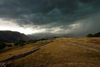 Storm. Buseu, Pirineus Lleidatans (Lleida Pyrenees), Lleida Province, Catalonia, Spain