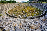 Perge stadium. Old capital of Pamphylia Secunda. Ancient Greece. Asia Minor. Turkey.
