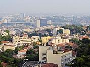 Brazil, City of Rio de Janeiro, View from the Santa Teresa hills.