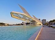 Brazil, City of Rio de Janeiro, Praca Maua, View of the Museum of Tomorrow(Museu do Amanha) by Santiago Calatrava.