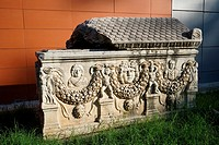 Garland Sarcophagus (Roman Period). Ephes Museum. Classic Greek Collection. Asia Minor. Turkey