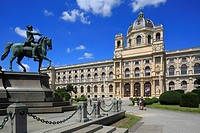Austria, A-Vienna, Danube, Federal Capital, Vienna Museum of Natural History at the Burgring, Vienna Ring Road, historism, Maria-Theresien-Platz, Mari...