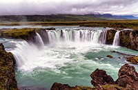 The Waterfall of the Gods, Godafoss, Myvatn, Iceland.
