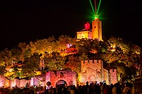 Tsarevets Fortress at the night, Veliko Tarnovo, Bulgaria.