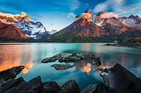 Torres del Paine National Park is a national park encompassing mountains, glaciers, lakes, and rivers in southern Chilean Patagonia. The Cordillera de...
