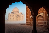 The Taj Mahal is a white marble mausoleum located in Agra, Uttar Pradesh, India. It was built by Mughal emperor Shah Jahan in memory of his third wife...