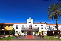 The classic spanish Policia Local Station in the created village of Tous in Valencia Community Spain.