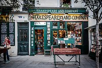 Famous Shakespeare and Company bookstore (specializing in English-language literature).