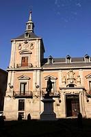 Old Town Hall in Plaza de la Villa Madrid Spain.