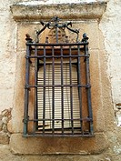 Window, Salvatierra de Santiago, Cáceres, Estremadura. Spain