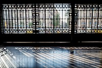Iron gate. Estació de França, Barcelona, Catalonia, Spain