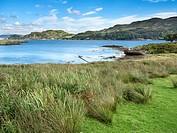 Little Horseshoe Bay on the Isle of Kerrera Argyll and Bute Scotland.