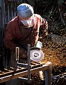 Metal grindering Scotland UK.