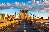 The Brooklyn Bridge is one of the oldest suspension bridges in the United States. Completed in 1883, it connects the New York City boroughs of Manhatt...