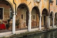Arcades in Venice, Italy