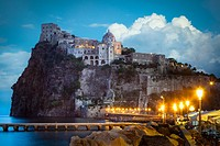 Castello Aragonese is a medieval castle next to Ischia (one of the Phlegraean Islands), at the northern end of the Gulf of Naples, Italy. The castle s...