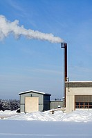 chimney of a power station, Finland.