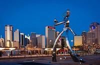 Sculpture in downtown Dallas, Texas.