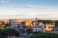 The Coliseum as seen from the Altare della Patria, Rome, Italy.