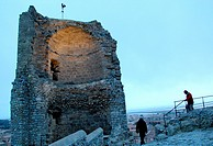Tower of Barberousse, at castle of Gruissan, Aude, Languedoc roussillon