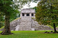 Temple of the Count, Palenque Mayan Archaeological Site, Palenque, State of Chiapas, Mexico, North America.