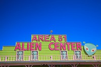 Amargosa Valley, Nevada - The Area 51 Alien Center at a gas station in the Nevada desert.