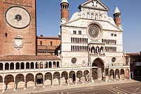 The Duomo di Cremona or cathedral. The cathedral of Cremona dates from the early 12th century and features elemnst of Gothic, Renaissance and Baroque ...