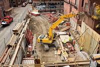 Construction, Bay Village, Boston, Massachusetts, USA
