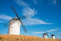 Windmills. Alcazar de San Juan, Ciudad Real province, Castilla La Mancha, Spain.