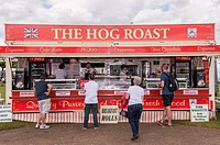 The Hog Roast stall at the Royal Norfolk Show in the Showground , Norwich , Norfolk , England , Britain , Uk.
