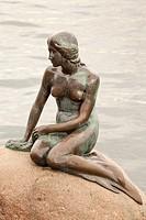 The Little Mermaid statue, Langelinie, Copenhagen, Denmark.