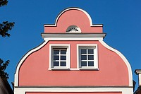 Colourful building, Warnemunde, Germany.