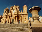 Italy, Sicily, Noto - The perfect baroque city. The cathedral