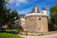 Chateau des Ducs de Bretagne, fortress, built in the 15th c., by duke François II, Nantes, Loire Atlantique, France