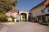 East Harnham gate, The Close, Salisbury. Nowadays, this gate looks much the same as when John Constable painted it.