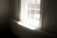 Sunlight entering through window.
