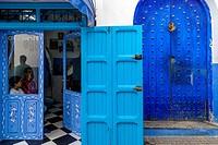 A Barber Shop In The Medina, Asilah, Morocco.