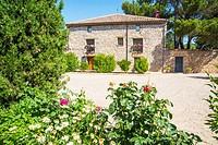 Facade of house. Medinaceli, Soria province, Castilla Leon, Spain.