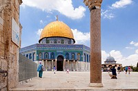 The Dome of the rock, east Jerusalem, Palestine.